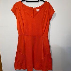 Merona Burnt Orange Dress W/ Pockets